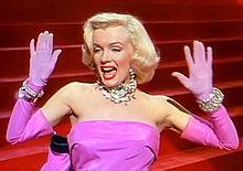 Marilyn Monroe dans Les Hommes préfèrent les blondes