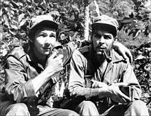 Raúl Castro et Che Guevara pendant la révolution Cubaine, 1958