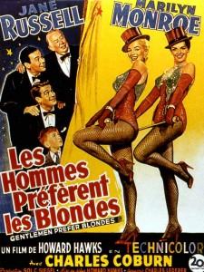 Affiche du film Les Hommes préfèrent les blondes